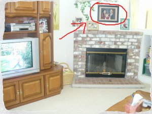 Family Portrait over Fireplace