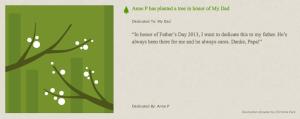 Tree Planting Dedication