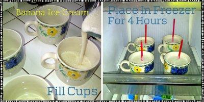 Banana Ice cream collage