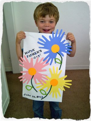 Handprint Flowers How To