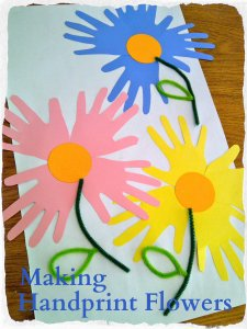 Handprint Flowers Tutorial