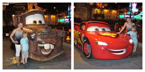 Lightning McQueen and Mater at Cars Land