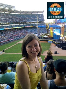 Anne at Harvest Crusade SoCal
