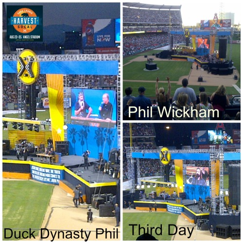Celebrities at Harvest Crusade, Third Day, Phil Wickham, Duck Dynasty