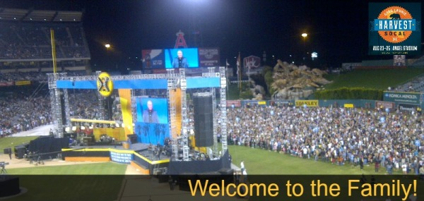 Welcome to the family at Harvest Crusade SoCal